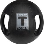 Body Solid 6 lbs Dual Grip Medicine Balls in Black