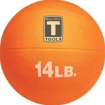 Body Solid BSTMB14 14 lb. Orange Medicine Ball