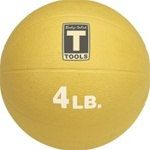Body Solid BSTMB4 4 lb. Yellow Medicine Ball