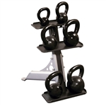 Body Solid 3-Pair Kettlebell Rack