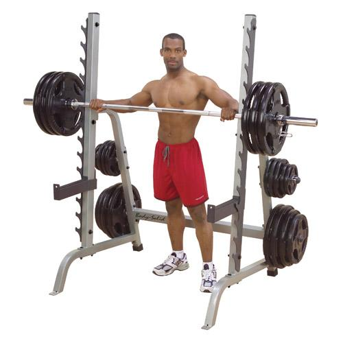Body solid multi press squat half rack w plate storage for A squat rack