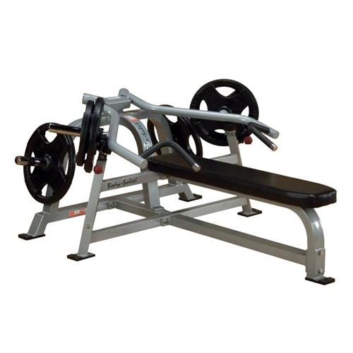 Body Solid Leverage Horizontal Bench Chest Press Plate Loaded