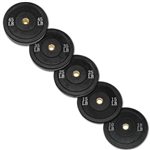 Body Solid 260lbs Olympic Rubber Bumper Plate Set in Black