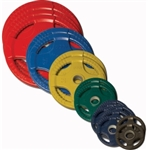 Body Solid Colored Rubber Grip Olympic Plates 355lbs.
