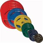 Body Solid Colored Rubber Grip Olympic Plates 455lbs.