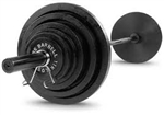 Body Solid 400 lb. Cast Olympic Weight Set W/Black Bar