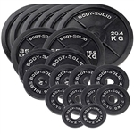 Body Solid Cast Iron Olympic Weight Plate 455 lb. Set