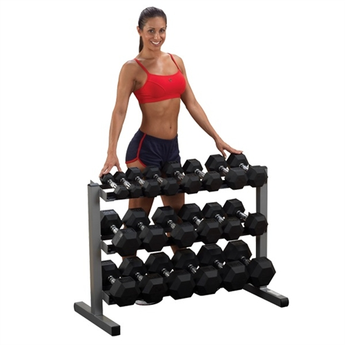 Body Solid 5-50 Lb. Dumbbell Set With Rack