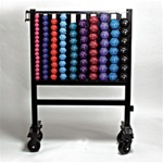 CAP 456 Lb Neoprene Dumbbell Set With Rack
