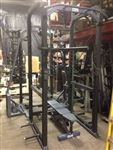 Power Lift 6 Post Power Cage Half Rack