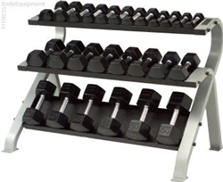 TKO Three Tier Horizontal Dumbbell Rack