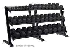 York 3-Tier Tray Hex Dumbbell Rack