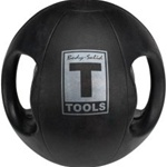 Body Solid 12 lbs Dual Grip Medicine Balls in Black