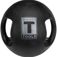 Body Solid Tools BSTDMB8 8-Pound Dual Grip Medicine Ball
