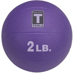 Body Solid Tools BSTMB2 2-Pound Medicine Ball Purple