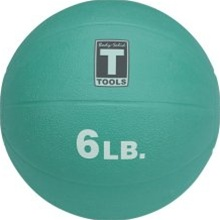 Body Solid Tools 6 Lb Medicine Ball - Aqua