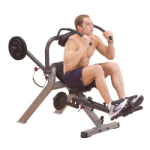 Body Solid Semi-Recumbent Ab Bench