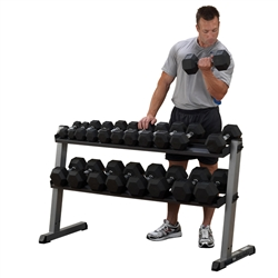 Body Solid 2 Tier Horizontal Dumbbell Rack