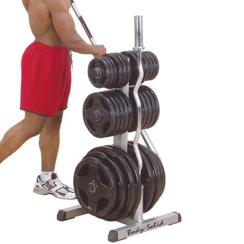 sc 1 st  GymStore.com & Body Solid Olympic Plate Tree u0026 Bar Holder
