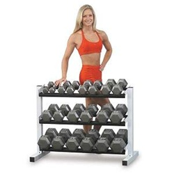 Body Solid - Iron Hex Grey Dumbbell Set - 5-50 Lb Set