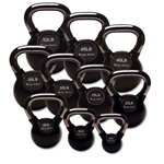 Body Solid 5 lb to 50 lb Rubber Coated Kettlebell Set