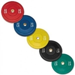 Body Solid 260lbs Olympic Rubber Bumper Plate Set Colored