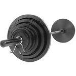 Body Solid 300 lb. Cast Olympic Weight Set W/Black Bar