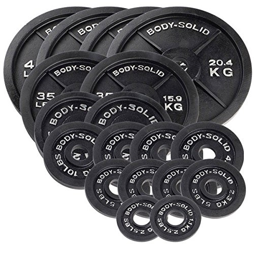 Body Solid Cast Iron Olympic Weight Plate 355 Lb Set