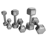 CAP Hex Dumbbell Set - 5-50 Lb W/ 3 Tier Rack