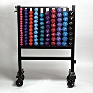 Neoprene Dumbbell Set With Rack No Wheels