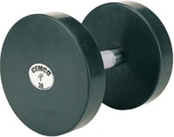 Cemco Fitness Solid Steel Rubber Dumbbell Set - Hard Chrome Handle