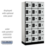 "Wood Lockers - 12"" W Lockers 3 Tier 6 High"