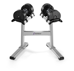 Stairmaster Twistlock Adjustable 5-50lb Dumbbell Set with Stand