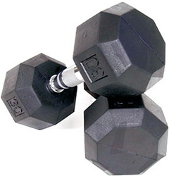 Troy Barbell VTX 8 Sided Rubber Dumbbell Set - 5-50 Lb Set