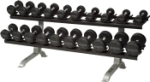 TKO Two Tier Pro Style Dumbbell Rack