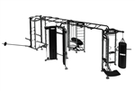 TKO Group Training Rig Stretching + Boxing + Rebounder + Power Rack