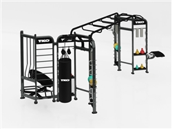 TKO Group Training Rig Stretching + Boxing + Rebounder