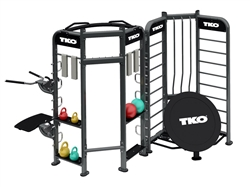 TKO Group Training Rig Stretching + Rebounder