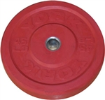 York 275 lb. Colored Solid Rubber Bumper Plate Set