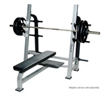Olympic Flat Bench With Gun Racks