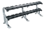 York ETS 2-Tier Pro Style Dumbbell Saddle Rack