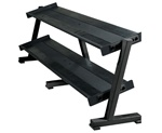 York 2-Tier Tray Hex Dumbbell Rack