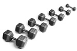 York 5-100 Lb. Pro Hex Dumbbell Set Cast Ergo Handle Grey
