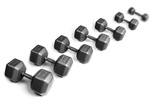 York 5-50 Lb. Pro Hex Dumbbell Set - Cast Ergo Handle - Grey